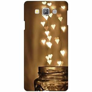 Samsung Galaxy A7 SM-A700FD Back Cover - Lighting Heart Designer Cases