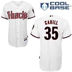 Trevor Cahill Arizona Diamondbacks Home Authentic Cool Base Jersey by Majestic by Majestic