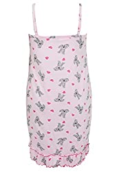 Yoursclothing Plus Size Womens Pale & Grey Dog Print Night Dress