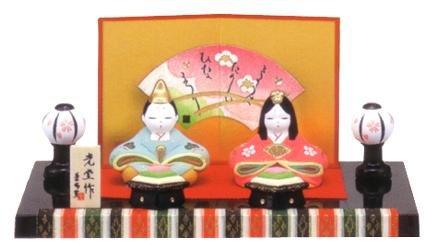 【雛人形/ひな人形】錦彩親王飾り雛(陶器)