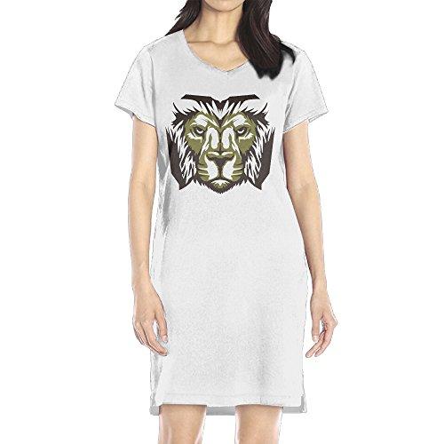 AIJFW Doubutsu Sentai Zyuohger Zyuoh Lion Logo Women's V-neck T Shirt Dress