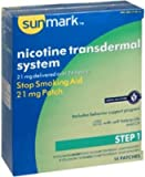 Sunmark Nicotine Transdermal System Step 1-12 14 Patches - 14EA/BX