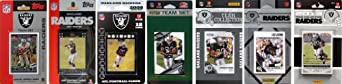 NFL Oakland Raiders 7 Different Licensed Trading Card Team Sets by C&I Collectables