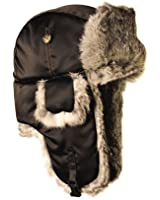 Mad Bomber Supplex Hat with Grey Fur