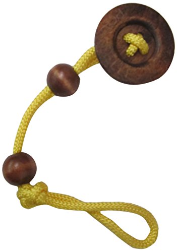 aBaby Big Button Pacifier Clip, Yellow - 1