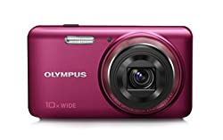 Olympus Stylus VH-520 14MP Compact Digital Camera with 10x Optical Zoom (Red)