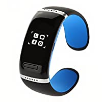 TETC V3.0 OLED Touch Screen Smart Bracelet Bluetooth Bracelet for Google Android Mobile Phone, Iphone, Microsoft Windows Phone System, Nokia Symbian-Blue by TETC