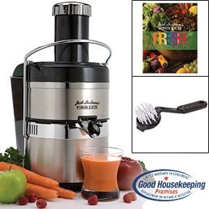 Jack Lalanne's JLSS Power Juicer Deluxe Stainless-Steel Electric Juicer