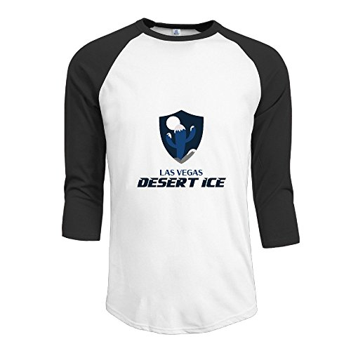 SAXON Men's Funny Las Vegas Desert Ice Raglan Baseball T-Shirt (Dyson Allery compare prices)