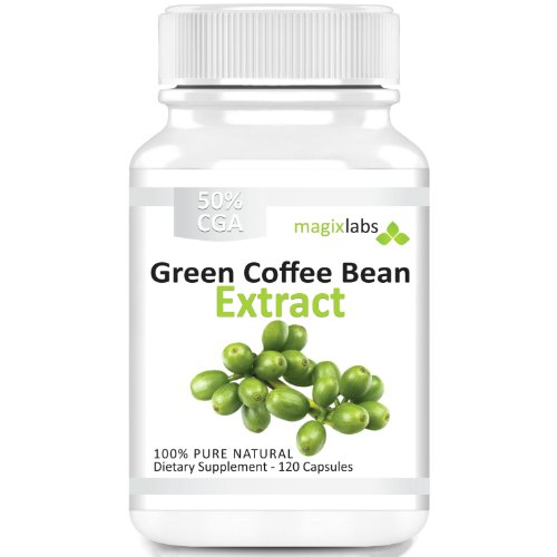 Pure Green Coffee Bean Extract - 100% Pure - Double Strength 800mg - 120 Vegetarian Capsules - Full 60 Day Supply of 1,600mg Daily Servings - An All Natural Weight Loss Supplement - 100% Money Back Guarantee!