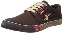Sparx Mens DARK Brown Canvas Sneakers - 6 UK