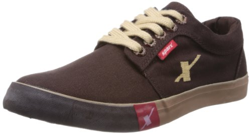 Sparx-Mens-DARK-Brown-Canvas-Sneakers-8-UK