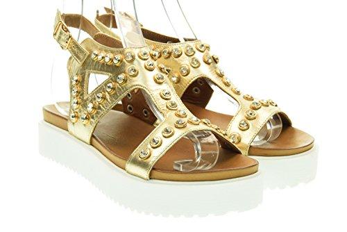 INUOVO donna sandali con la zeppa 6026 Oro 39 Oro