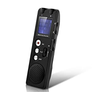 Digital Bluetooth Voice Telephone Mobile Phone Recorder with Noise Reduction, Voice Activated 8GB DVR189