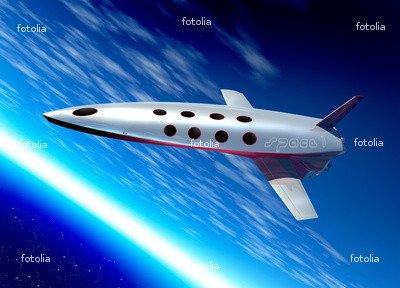 Wallmonkeys Peel and Stick Wall Graphic - Space Plane in Earth Orbit - 18