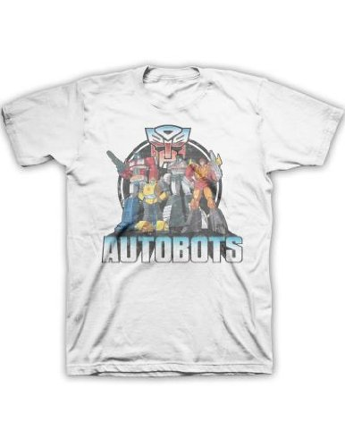 Transformers Autobot Lineup Men's White T-shirt