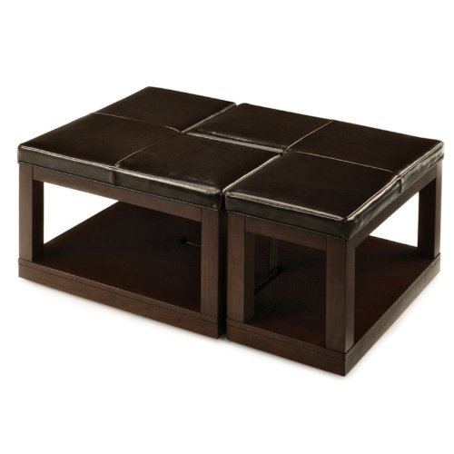 Pieces L-Shaped Coffee Table Ottoman
