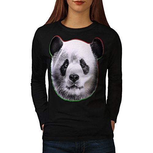 cracked-wood-panda-timber-style-women-new-black-xl-long-sleeve-t-shirt-wellcoda