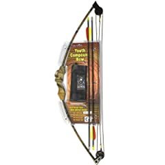 12 Pack 10LB 24 Youth Compound Bow Set Archery Target Practice - Autumn Camo by MegaDeal