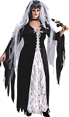 Morris Costumes Bride Of Darkness Plus Size