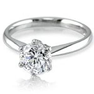 3.10ct Certified Round Cut Diamond Ring SI2 Color:H
