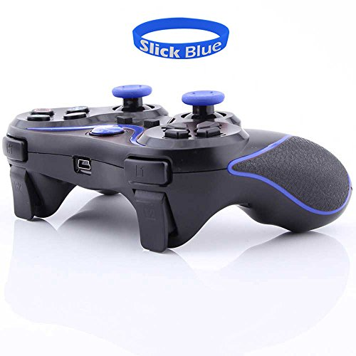 Slickblue(Tm) Wireless Bluetooth Game Pad Controller For Sony Playstation 3 (1 Pack, Black-Blue)
