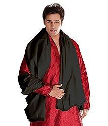 Weavers Villa Black Cashmere Lohi, Shawls for Men (Black)