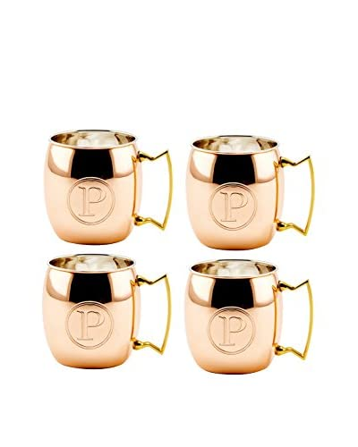 Old Dutch Set of 4 Copper 16-Oz. Moscow Mule Mugs Monogrammed P