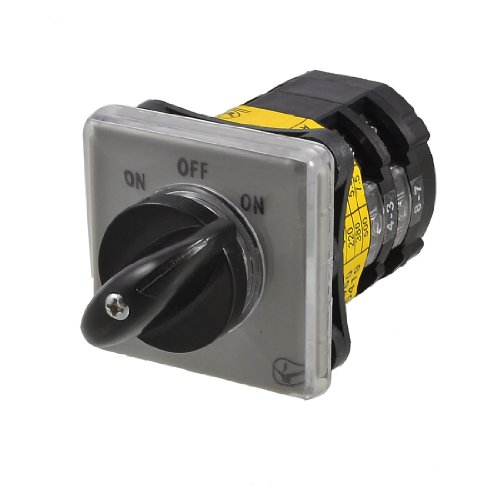Ac 380V On/Off/On Position Rotary Cam Universal Changeover Switch
