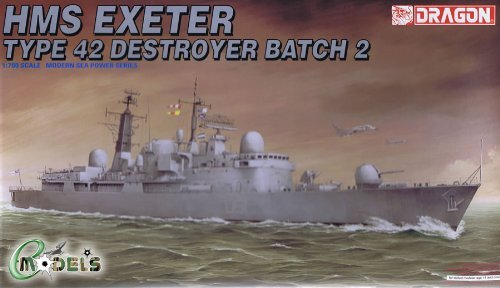 Dragon 7020 HMS Exeter Type 42 Destroyer Batch 2 1:700 Plastic Kit