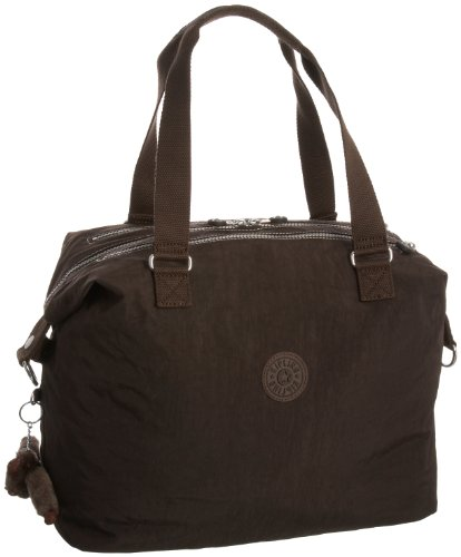 Kipling Women's Ayati Medium Travel Tote with Trolley Sleeve and Removable Shoulder Strap Expresso Brown