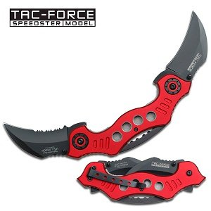 Tac Force TF-669RD Tactical Assisted Opening Folding Knife 5.25-Inch Closed