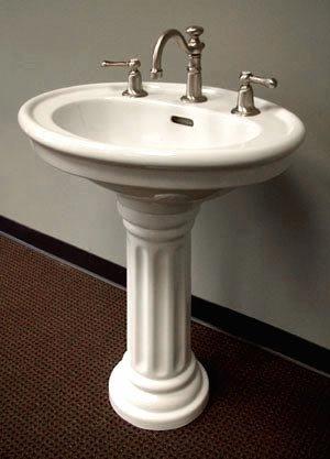 Wide Base Pedestal Sink : dyertate: OrderNow Barclay 3-818WH Windsor Pedestal Sink, White