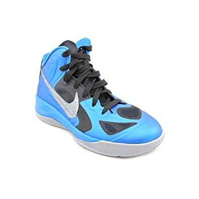 Nike Boys Hyperfuse 2012 Basketball Shoe Photo Blue/Black/Wolf Grey Size 5.5