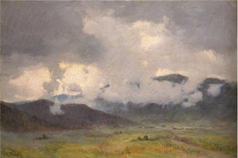 Perfect Effect Canvas ,the Best Price Art Decorative Prints On Canvas Of Oil Painting 'Joseph Henry Sharp,Snow Clouds Taos Valley,1859-1953', 10x15 Inch / 25x38 Cm Is Best For Home Office Decoration And Home Artwork And Gifts (Rain Globe Seattle compare prices)