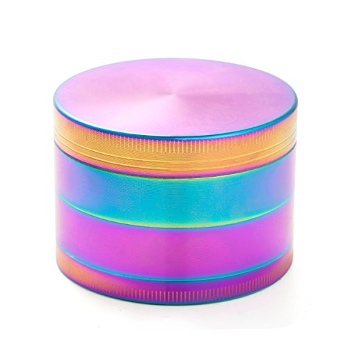 Colourful-4-Pieces-Metal-Zinc-alloy-Tobacco-Grinder-Spice-Grinder-Herb-Grinder-Rainbow-Metal-By-KepooMan