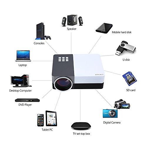 Crenova xpe350 mini portable projector 480 320 resolution for Mini portable projector for ipad