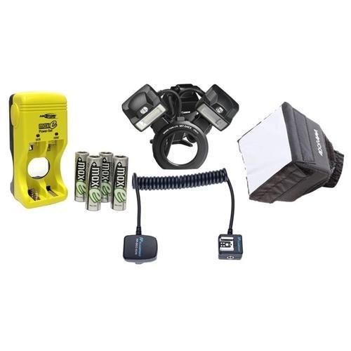 Canon-MT-24EX-Macro-Twin-Lite-Flash-Unit-BUNDLE-wUSA-Warranty-Accessories