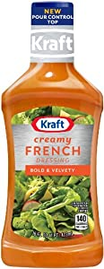 Kraft Creamy French Dressing, 16-Ounce Plastic Bottles (Pack of 6)