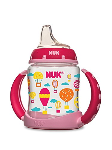 NUK Hot Air Balloons Learner Cup in Girl Patterns, 5-Ounce, 2-Count