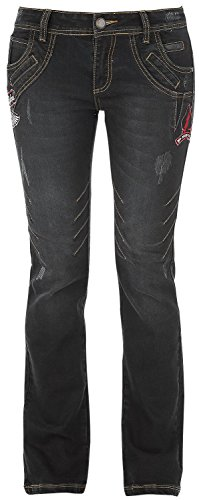 Rock Rebel by EMP Seams Grace (Boot-Cut) Jeans donna nero W36L34
