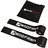 WODFitters Floss Bands (Voodoo) for Muscle Compression Tack & Flossing, Mobility & Recovery WODs - 2 Pack with Carrying Case, Lifetime Warranty, Free User eGuide * WODfitters Voodoo Exercise Bands - Improve Muscle Movement, Increase Circulation, & Warm Muscles. Floss Bands Increase Muscle Compression & Reduce Soreness After Intense Workouts. Designed To Enhance Your Athletic Performance While Reducing Injury