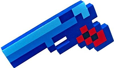 "Pixelated Diamond Foam Gun Toy 10"" from 8BIT TOYS"
