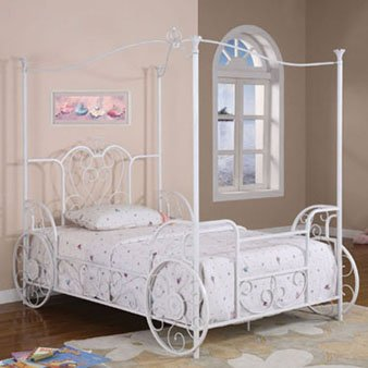 Twin Canopy Bed Frame 7230 front