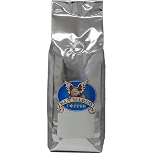 San Marco Coffee Decaffeinated Flavored Whole Bean Coffee, Banana, 1 Pound
