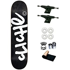 Cliche Black Handwritten 8.0 Skateboard Deck Complete by Cliche
