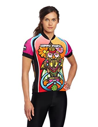 World Jerseys Ladies Hippy Chick Cycling Jersey by World Jerseys