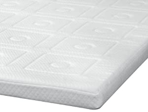 SensorPedic 3-Inch Luxury Memory Foam Mattress Topper, White, Queen from SensorPedic