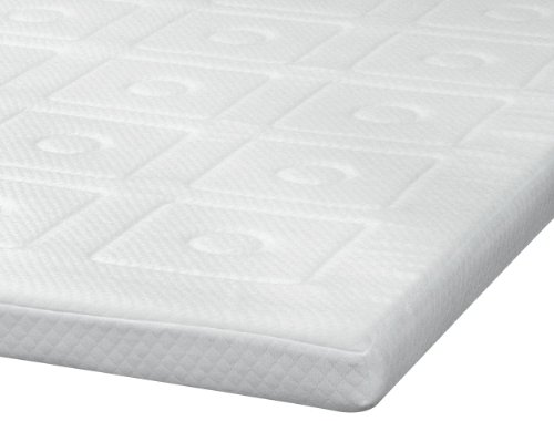 Sensorpedic Luxury Extraordinaire 3-Inch Quilted Memory Foam Mattress Topper, Queen Size, White front-14994