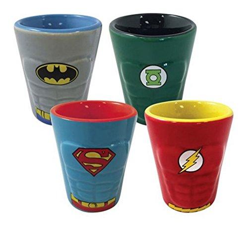 DC Comics Heroes Molded Ceramic Shot Glass 4-Pack